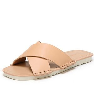 "NWOB Vince ""Nico"" crisscross leather slides"